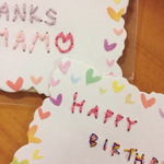 Message card (左:生徒さん作品) #up