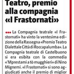 Teatro, premio alla compagnia i Frastornati (Giornale di Sicilia del 23 ottobre 2016).