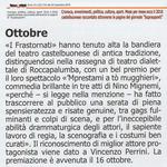 """La premiazione dei Frastornati annoverata da """"Suprauponti"""" tra gli eventi clou del 2016 (Suprauponti del 22 dicembre 2016)."""