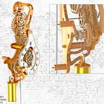 """Orologio n° 23 di Brian Law - orologio """"a peso"""" con perticolari ingranaggi ESAGONALI ed OTTAGONALI !!!"""