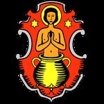 Wappen des Standortes Veitshöchheim: Panzerbrigade 36 von 1993 bis 2002 (bis 2001: 1. Gebirgsdivision - ab 2001: 10. Panzerdivision)