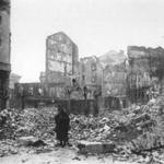 1941 Ruinas de la Plaza del Príncipe desde su esquina noreste
