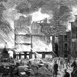 1878 Incendio de varias casas entre La Ribera y La Blanca, visto desde la primera