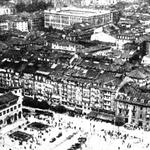 ¿Año? Vista aérea del centro de Santander desde el sureste. Casi todo lo que aparece en la imagen desapareció en 1941. La fotografía fue publicada en el ABC tras el incendio, aunque ha de ser como mucho de comienzos de los años 30