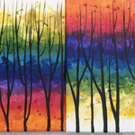 Bäume, Acryl auf Leinwand. 50 x 20 cm.  50,00 € (3 Stucke)