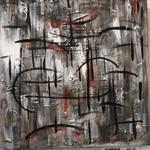 Abstrackt III, Mischtechnik auf Leinwand. 40 x 40 cm. 80.00€