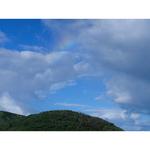 小さい虹。 だんだん大きくなりました♡ 富山県みくりが池にて。(erico☆彡さんより頂きました。感謝です。(^^))