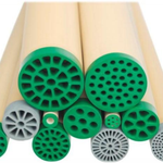Tubular membranes have silicone endcaps to ensure watertight connections with the housings in which they are located.