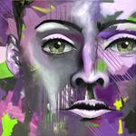 The Face 4, 100x100 cm, Acrylmischtechnik