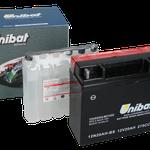 Unibat Wartungsfrei 12N20AH-BS (12 V 20 AH) (51913), Maße in mm :(LxBxH) 185x81x170, Gewicht : 5,4 kg, Batterieleistung im kalten Zustand(CCA): 275
