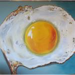 gebakken ei (120x80 cm)