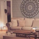 Mandala Wandtuch im Wohnzimmer