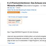 8 x 8 Premiumintentionen auf Amazon ebenfalls auf Platz 1 in der Rubrik Feng Shui!