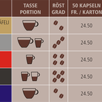 Sortiment Nespresso kompatiblen Kapseln Caffè Ferrari
