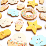 Eef Lillemor Style Cookies, Fondant Cookies
