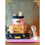 Sweet Eightteen Years taart,Fashion Cake, High Heel Cake, Demi,taart Den Bosch