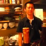 若き料理人 崎田昌史さん(※オーナーです。剣道部の中学生ではありません)