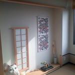和室床の間。和風になりすぎない明るいシンプルな床の間です。
