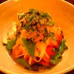 新たまねぎとトマトの和風サラダ