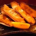 あげ巻貝の炭火焼き