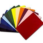 Preiskarten ohne Druck, verschiedene Farben