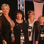 Der Vorstand IAHSP: Sandra Holmes, Jennie Norris, Lyn Spaeth, Bette Vos
