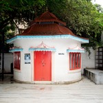Büchershop im Ashram