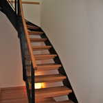 Treppe zum Wohnraum
