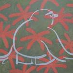 「ものうい  きせつ」油絵具、キャンバス/D652×W1000