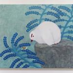 「こんにちは かたつむり」2018/キャンバス、油絵具/F20