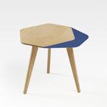 SIDE TABLE < FLO MADE IN FRANCE > SOLID OAK