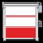 PVC-Behang 3-teilig mit 2 Klarsichtfeldern