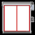 PVC-Schnelllauftor transparent full vision