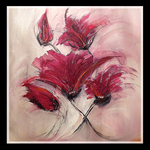 60x60 Abstract Flowers - SOLD