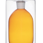 Amber Double Walled Oil Bottle