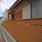 潮見の家・杉塀