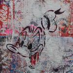 Donald, 83 cm x 117 cm, Acryl und Aerosol auf Plakat