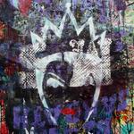 Queen, 83 cm x 117 cm, Acryl und Aerosol auf Plakat