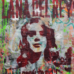Lana, 83 cm x 117 cm, Acryl und Aerosol auf Plakat