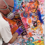 Live-Painting am 21. Juli 2016 in der whiteBOX (Foto: Gunter Hahn)