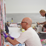 Live-Painting am 21. Juli 2016 in der whiteBOX (Foto: Gunter Hahn)Live-Painting am 21. Juli 2016 in der whiteBOX (Foto: Gunter Hahn)
