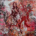 Raquel, 83 cm x 117 cm, Acryl und Aerosol auf Plakat
