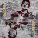Bob, 83 cm x 117 cm, Acryl und Aerosol auf Plakat