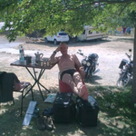 Hartes Bikerleben ! was soll man auch bei 38 Grad in La Palud machen