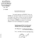 Mit diesem Schreiben der Französischen Militärregierung vom 16. April 1947 wurde dem neugegründeten Musikverein die Genehmigung erteilt, öffentlich und privat aufzutreten. Mindestens eine Woche vorher mussten geplante Veranstaltungen angezeigt werden.