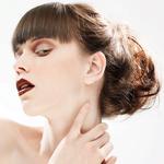 Причёска с Резинкой из Волос - причёска с объёмной резинкой, медно-русые волнистые волосы