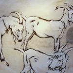 Spaziergang der Ziegen, 140 x160, verkauft