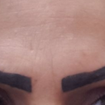 Missglücktes permanent Make up