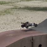 Der Buggy auf dem Pumptrack im Luipoldpark in Schwabmünchen.