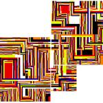 Puzzle (180x140cm les 3 pièces)  Acrylique sur toile marouflée sur bois